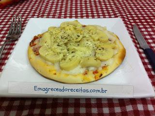 Pizza de Champignon com Requeijão