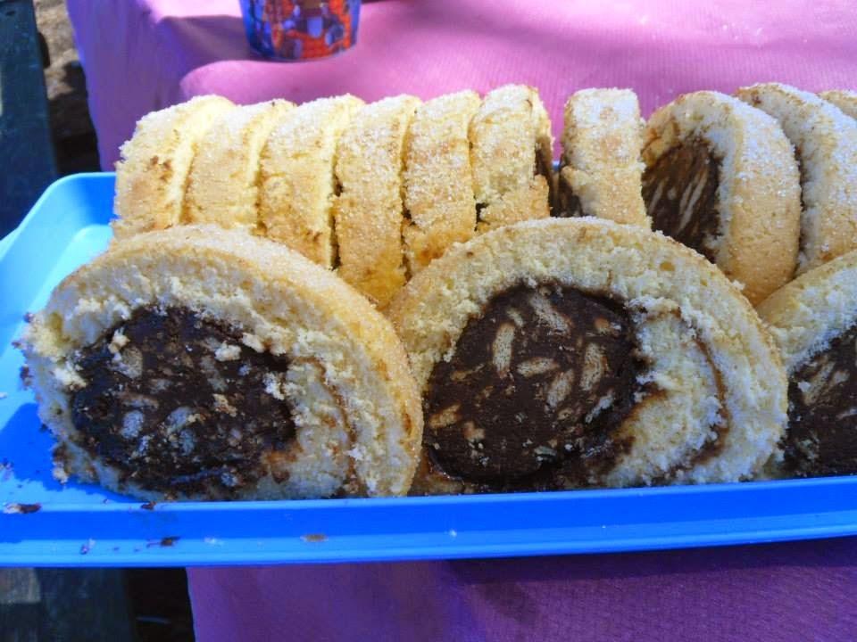 Torta de limão recheada com salame de chocolate- Dia Um Na Cozinha