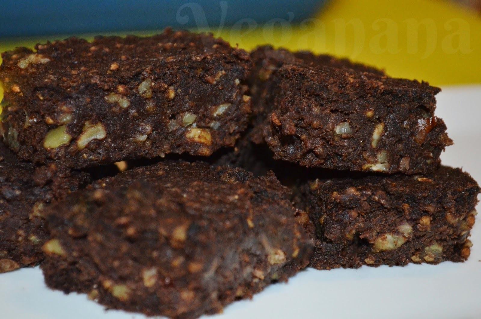 Brownie de Feijão Preto com Aveia e Nozes