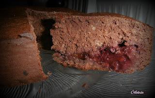 gesztenyés-gyümölcsös torta