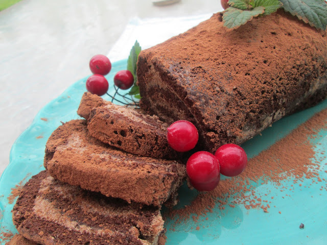 Chocolate and chestnuts Buche de Noel
