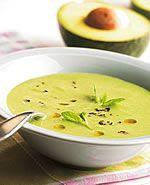 Sopa Creme de Abacate com Salmão