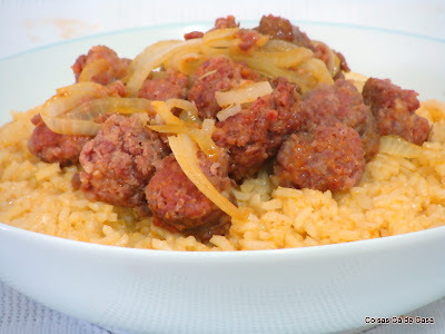 Arroz com linguiça