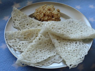 Neer Dosa/Thin Rice Flour Crepes