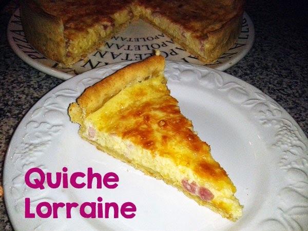Receta de Quiche Lorraine • Tarta Francesa de Queso & Bacon