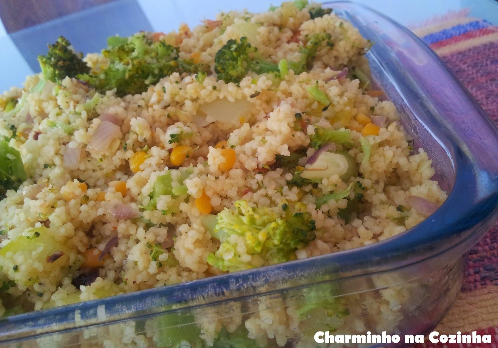 Couscous marroquino com brócolis