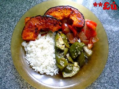 abobora cabotia com arroz