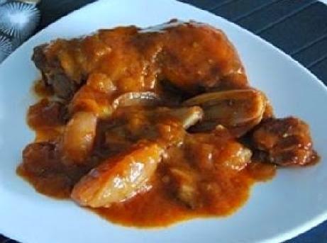 Pollo a la portuguesa facil y muy sabroso