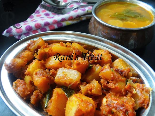 Yummy Lunch Combo - Potato Fry/Aloo Fry with Radish Sambar