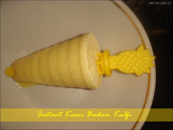 Instant Kesar Badam Kulfi with Bambino's Badam Milk Mix