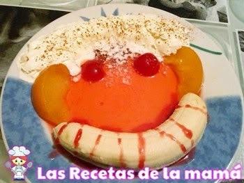 Receta de Postre divertido de frutas para niños