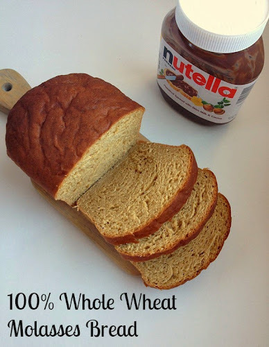 Whole wheat bread with molasses | Molasses whole wheat bread