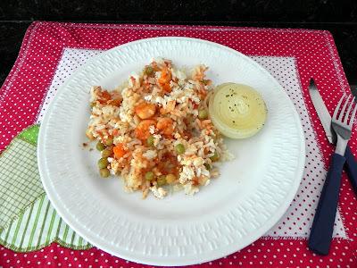 arroz de forno com sobras de arroz cozido