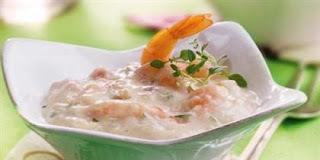 a de arroz de camarão cremoso