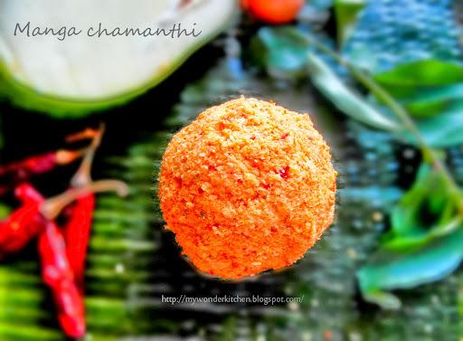 Pacha Manga Chamanthi|Raw Mango Dry chutney|A kerala speciality