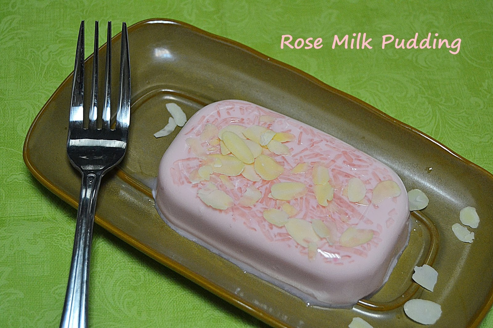 Rose Milk Pudding