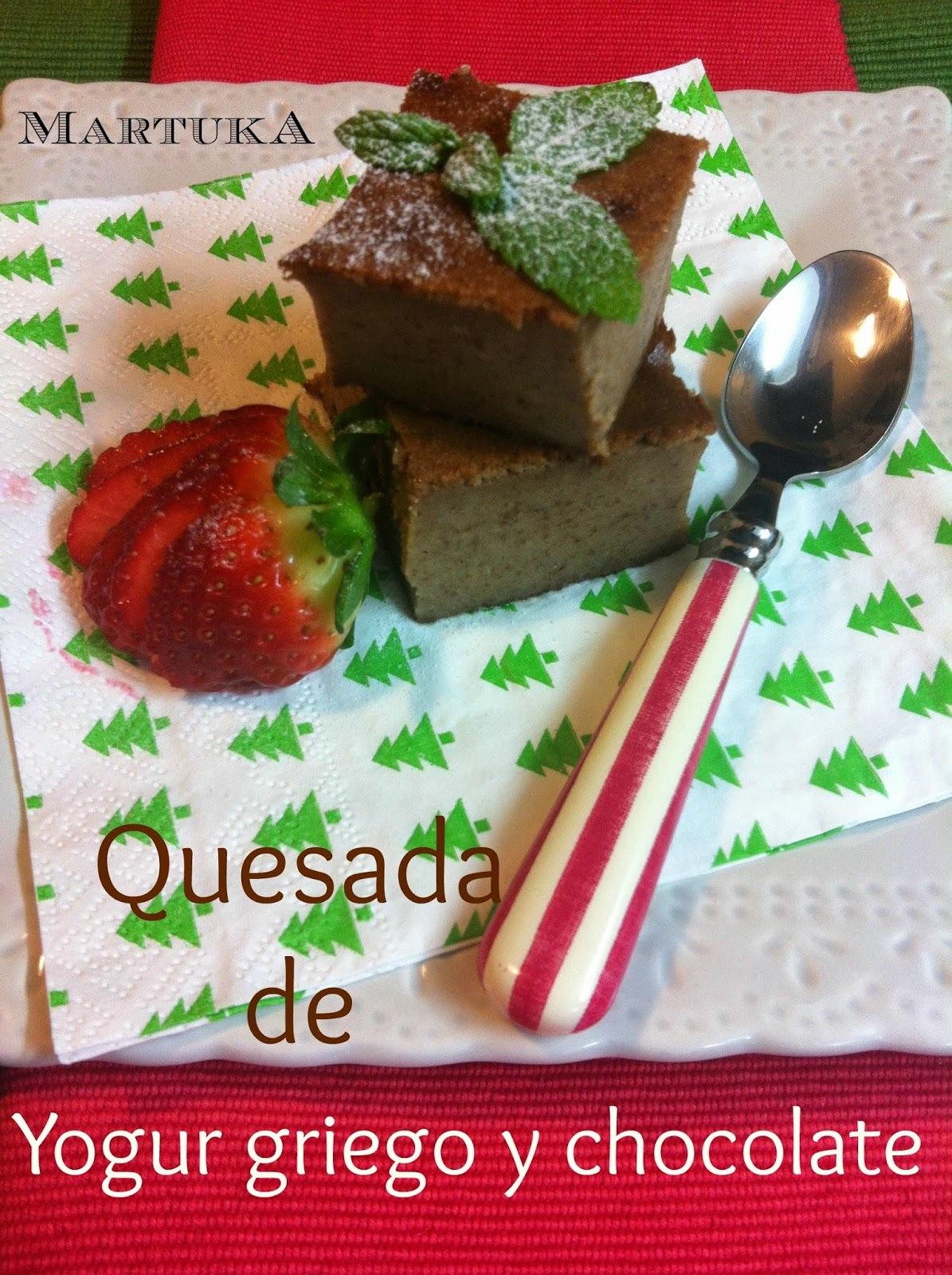 Quesada De Yogur Griego Y Chocolate