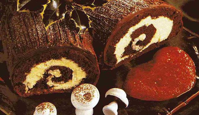 Tronco de Chocolate con Ganache de Café con Chocolate