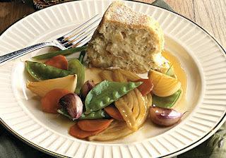 Enformado de Bacalhau com Vegetais Caramelizados