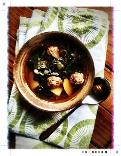 Merguez & a little Cardo Verde (Portuguese Soup)