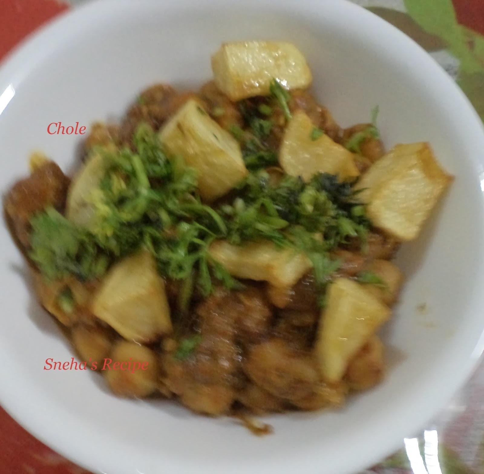 Chole  Sabzi (Chick Peas) / Kabuli Channa