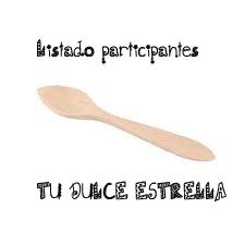 """LISTADO DE RECETAS PARTICIPANTES EN EL CONCURSO """"TU DULCE ESTRELLA"""""""