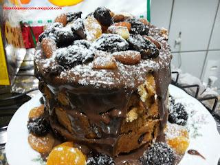 Naked Cake de Chocottone...É Natal!