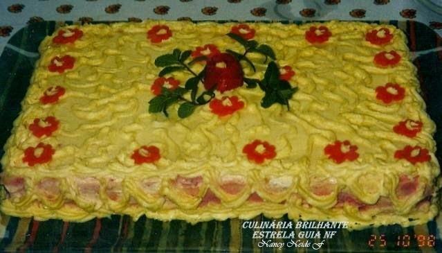 do bolo salgado passo a passo montagem do pão com maionese
