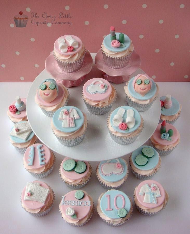 Cupcakes - tema: festa no spa