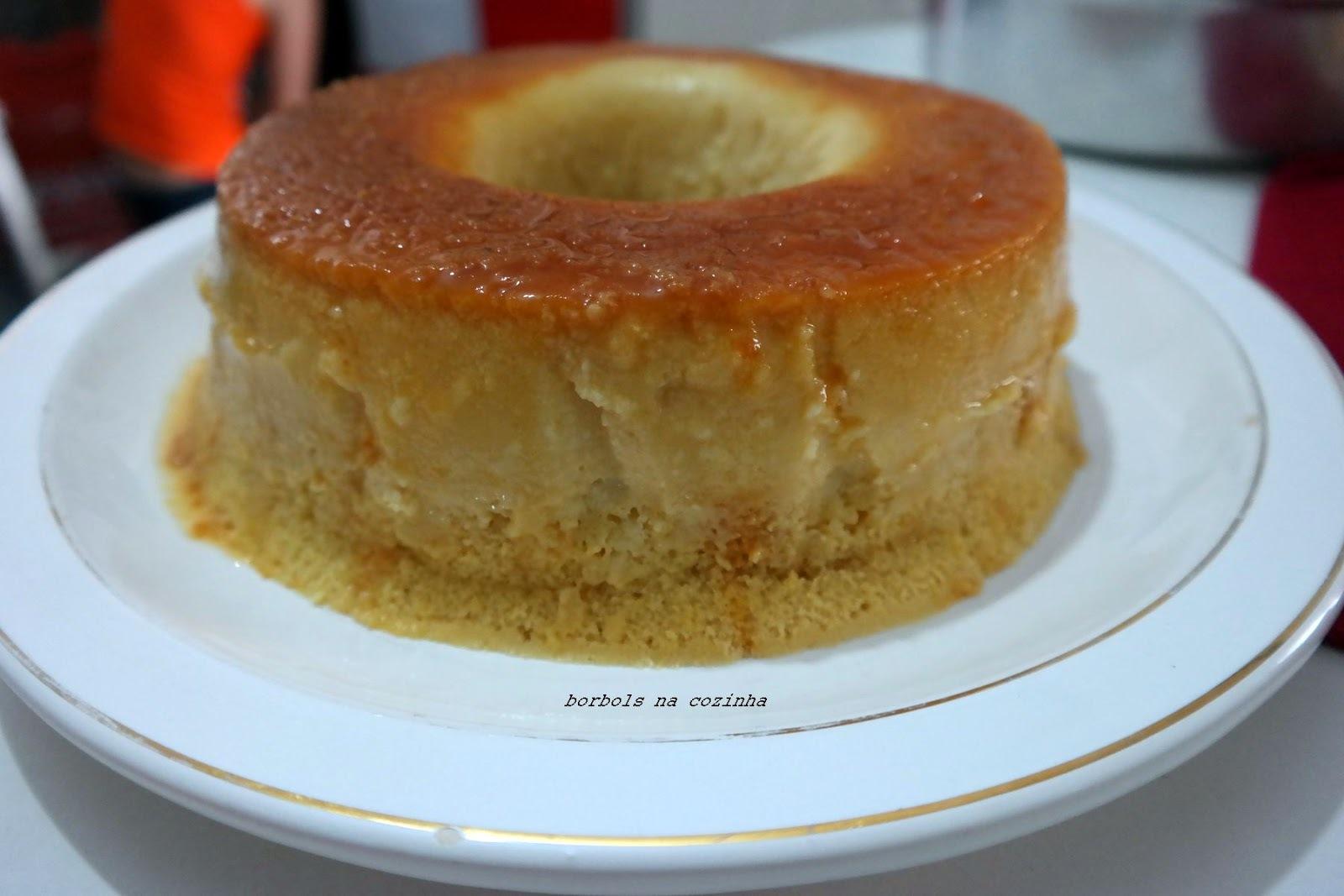 bolo gelado de liquidificador de laranja pudim
