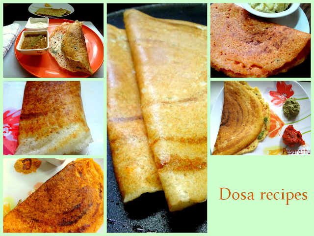 Idli,  dosa , chutney Recipes at a glance