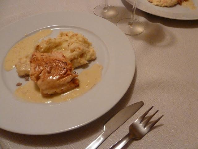 Losos s omáčkou beurre blanc