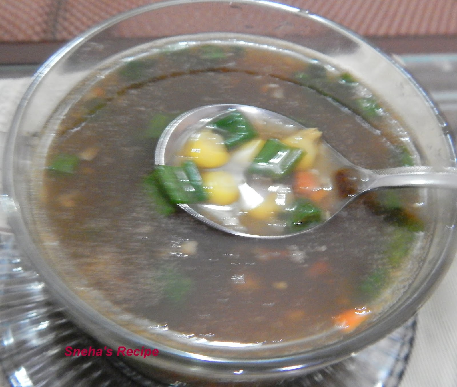Manchow Soup: Indo - Chinese Food