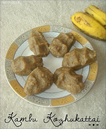 (Amma Cooks) Kambu Kozhukattai / Steamed Pearl Millet dumplings