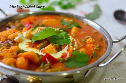 Mix Veg Butter Masala .. Punjabi Makhni Gravy