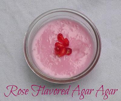 Rose Flavored Agar Agar Pudding