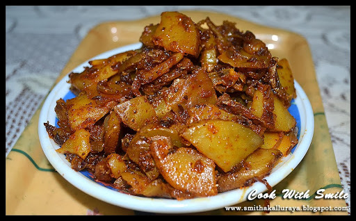 ALOO BHUJIA SABZI / POTATO STIR FRY - NORTH INDIAN STYLE