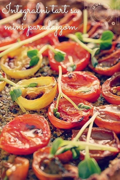 Integralni tart sa mini paradajzom