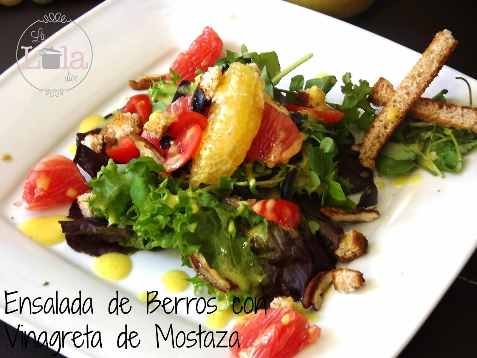 Ensalada de Berros en vinagreta de mostaza