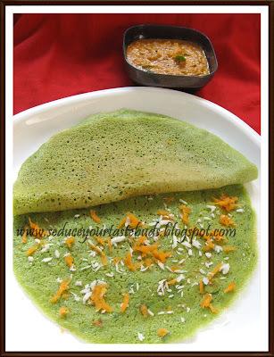 Palak Adai | Spinach - Multi Lentil Crepes