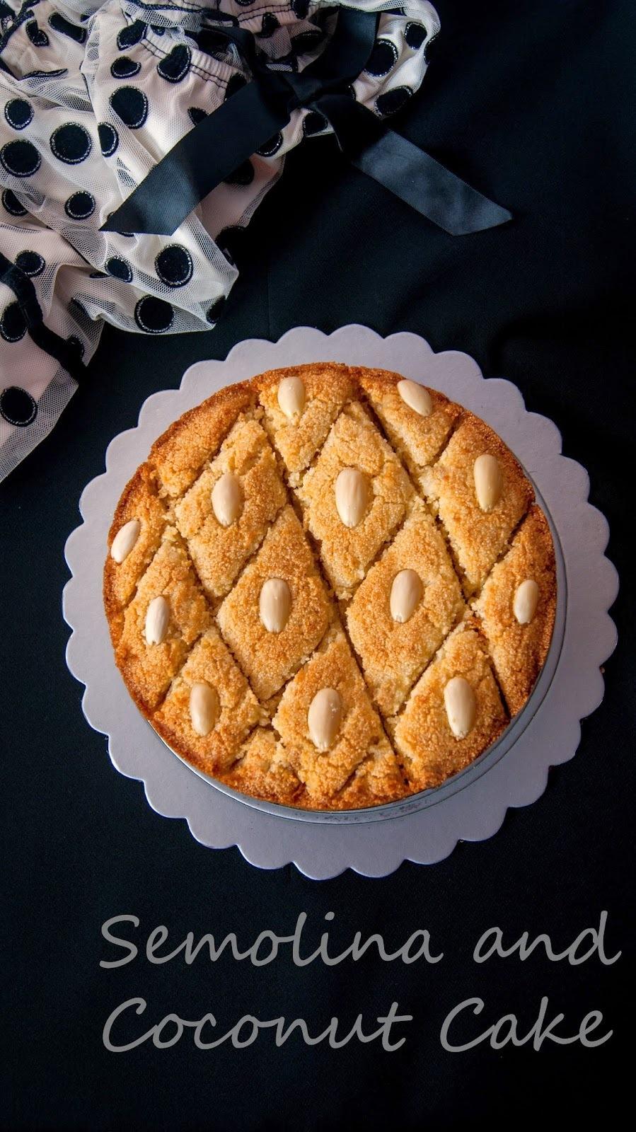 Basbousa / Semolina and Coconut Cake