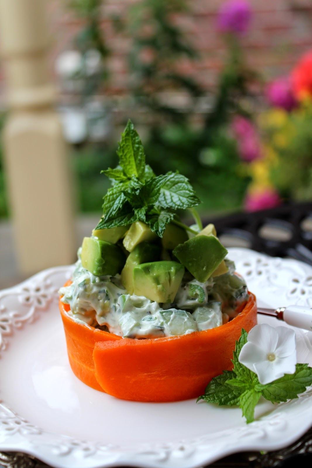 Salata od krastavca i avokada