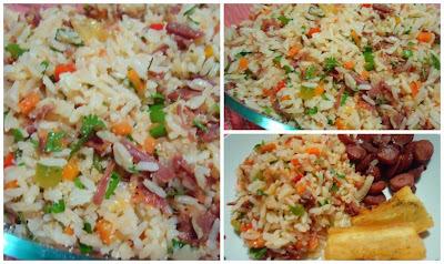 de arroz carreteiro com molho de tomate