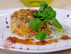 Salada de Grãos com Bacalhau e Crosta de Chia