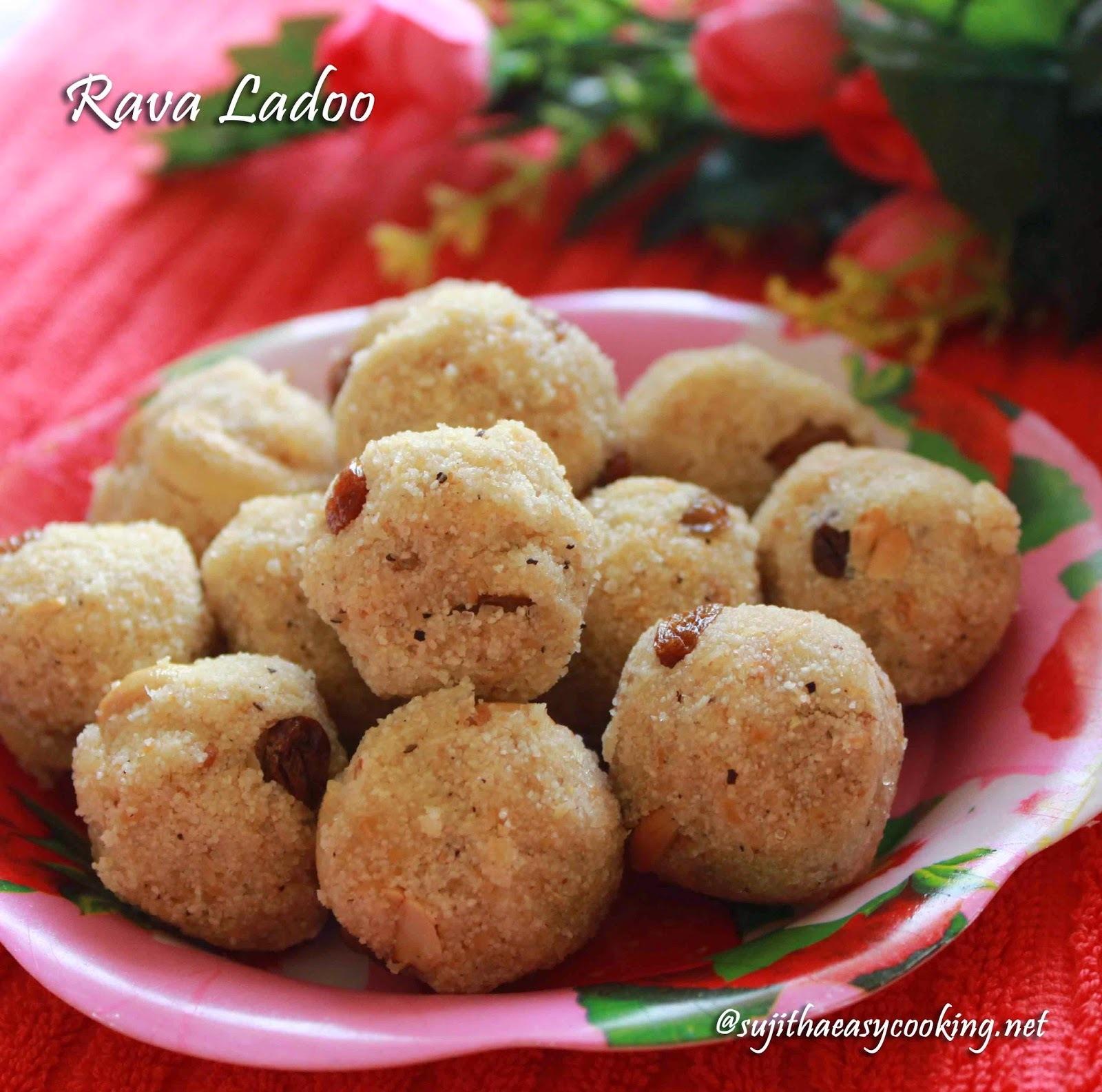 Rava Ladoo/Sooji Ladoo