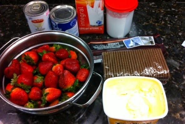 Torta de morango com chocolate