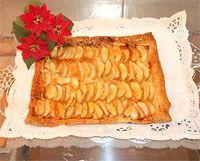 comida yucateca -Tarta de manzana de hojaldre