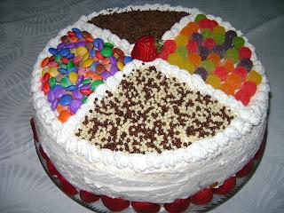 de bolo de aniversario de chocolate para festa infantil