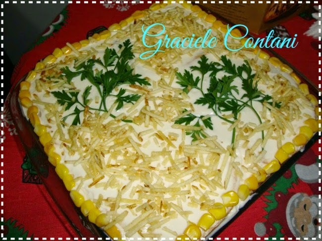 Torta fria de frango com milho, de Graciele Contani