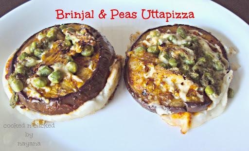 Brinjal & Peas Uttapizza